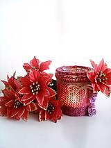 Svietidlá a sviečky - Svietnik Vianočná ruža - 7580149_
