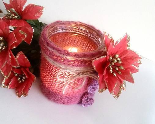 Svietnik Vianočná ruža