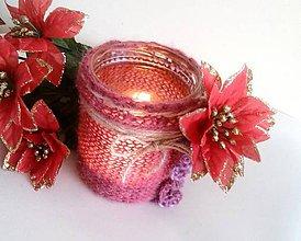 Svietidlá a sviečky - Svietnik Vianočná ruža - 7580143_