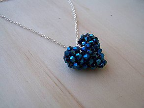 Iné šperky - srdiečko - kráľovská modrá - 7580163_