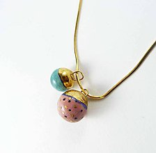 Náhrdelníky - Tana šperky - keramika/zlato - 7581220_