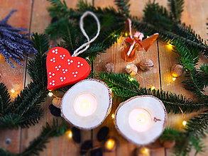 Svietidlá a sviečky - Drevené svietniky - 2 kusy - 7579125_