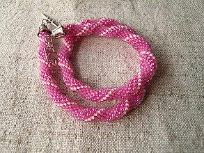 Náhrdelníky - ružovo-ružový - 7579152_