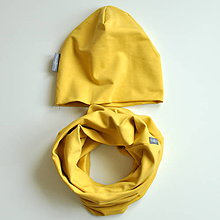 Čiapky - Set misted yellow - 7580962_