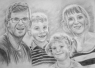 Kresby - rodinka ♥♥♥♥ - 7580354_