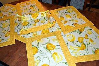 Úžitkový textil - Tulipánové prestieranie do kuchyne - 7580401_