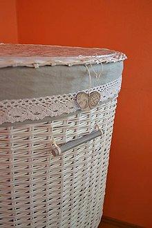 Košíky - Kôš na prádlo - šedý - 7579411_