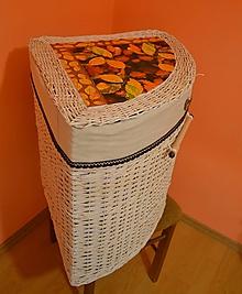 Košíky - Prádlový kôš LULA - kapučíno s čokoládou - 7581162_