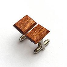 Šperky - Mahagónové obdĺžničky - 7581066_