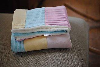 Textil - Detská pastelová dečka - 7578252_