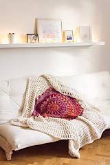 """Úžitkový textil - 100% prírodná deka vlnená """"Čarokrásne svety"""" východ slnka - 7582080_"""