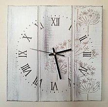 Hodiny - Nástenné hodiny- kvetinky - 7584951_