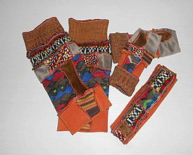 Iné oblečenie - color štucne a rukavice - 7583614_
