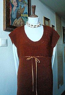 """Iné oblečenie - """"čokoládovo-medené šaty/vesta"""" - 7585207_"""