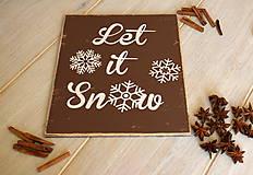 Tabuľky - Tabuľka - Let it snow - 7582315_