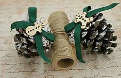 vianočné ozdoby_ šišky medovníčky