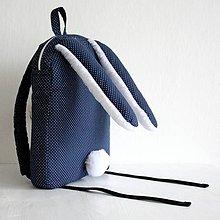 Detské tašky - RUKSAK  ZAJAČIK tmavomodrý ( rôzne veľkosti ) (RUKSAK zajačik od 4) - 7585322_