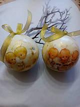Dekorácie - Vianočné gule Anjeli - 7585125_