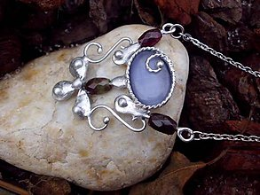 """Náhrdelníky - cínovaný náhrdelník - """"mačacie oči"""" - 7583076_"""