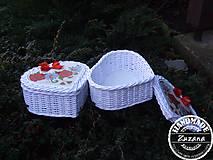 Krabičky - Srdiečková krabička 23x18x10 - 7585014_