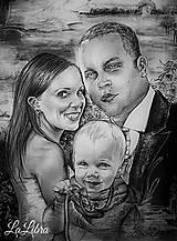 Obrazy - Rodinka-portrét - 7582408_