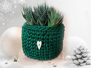 Košíky - Kvetináč obal zelený - 7583162_