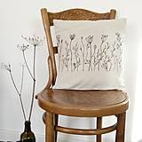 Úžitkový textil - Darčekové balenie dvoch vankúšov - šípky a lúčne trávy - 7582616_