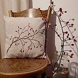 Úžitkový textil - Darčekové balenie dvoch vankúšov - šípky a lúčne trávy - 7582617_