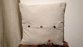 Úžitkový textil - Darčekové balenie dvoch vankúšov - šípky a lúčne trávy - 7582621_