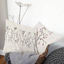 Úžitkový textil - Darčekové balenie dvoch vankúšov - šípky a lúčne trávy - 7582610_