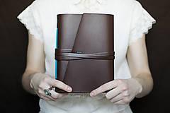 Papiernictvo - Ručne viazaný kožený zápisník Martin / linajkové strany - 7581990_