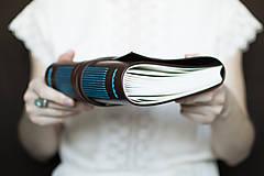 Papiernictvo - Ručne viazaný kožený zápisník Martin / linajkové strany - 7581994_