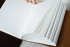 Papiernictvo - Ručne viazaný kožený zápisník Martin / linajkové strany - 7581997_