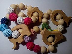 Hračky - Drevená hrkálka - hryzátko - 7584634_