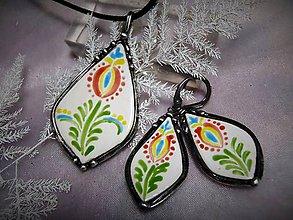 Sady šperkov - keramický set na ľudovú tému... - 7585288_