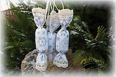 Dekorácie - Bielostrieborné látkové salónky - 7586895_