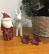 - Náušnice Kvety z fima, bordové - 7586967_