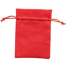 Textil - Vrecúško - červené - 7587856_