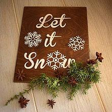 Tabuľky - Tabuľka - Let it snow II. - 7588074_