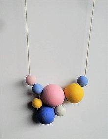 Náhrdelníky - náhrdelník MINIMAL 25 - drevo maľované akrylom - 7587188_