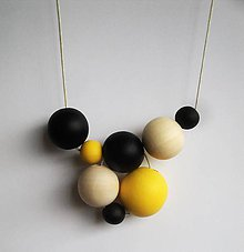 Náhrdelníky - náhrdelník  MINIMAL  26 - drevo maľované akrylom - 7587428_