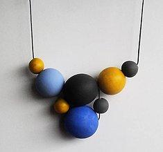 Náhrdelníky - náhrdelník  MINIMAL  27 - drevo maľované akrylom - 7587444_