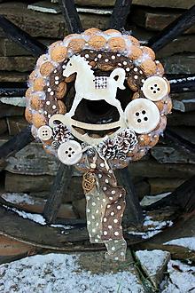 Dekorácie - vianočný orechový s koníkom - 7588646_