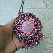 Náhrdelníky - Trithemis aurora  - vyšívaný náhrdelník - 7586086_