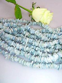 Minerály - akvamarín korálky -tromlované plátky - 7586395_