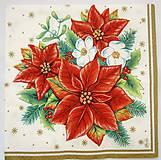 - Servítka Z-21- Vianočná ruža - 7586681_