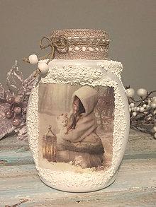 Svietidlá a sviečky - Svietnik / vázička dievčatko - 7585902_