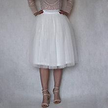 Sukne - Kvalitná TUTU svadobná sukňa v MIDI dĺžke - 7586204_