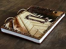 Papiernictvo - Hudobný diár,vintage diár klavír,noty s vymeniteľným obsahom pre muža i ženu - 7586102_