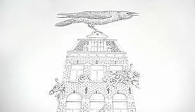 Kresby - Dom bez dverí - originál - 7587842_
